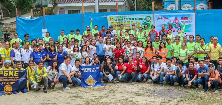 employees of holcim philippines and its partner organizations joined the 2019 brigada eskwela to prepare public schools nationwide for the opening of classes