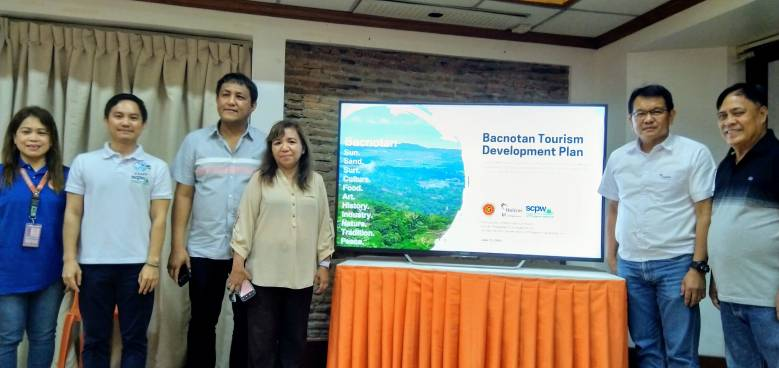 holcim and scpw present the sustainable tourism masterplan to bacnotan union officials