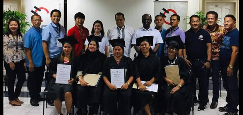 holcim davao hosted the graduation ceremony of the 20 beneficiaries of its plumber skills training program for its community
