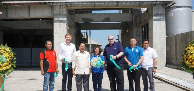 holcim officials with national and provincial government officials during the inauguration of its new facilities in la union