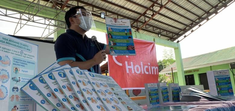 holcim supported distribution of information materials on proper hand hygiene to help protect communities against covid 19 in 2020